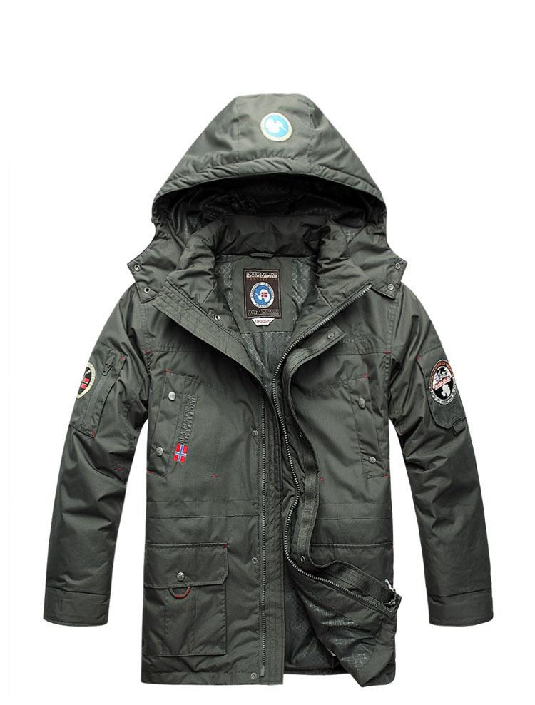 2015 New Style Mens Winter Jacket Men's Hooded Napapijri Parka Jackets Men Outerwear Male Slim Size 2 Colors XS-XXXL CT24 - Top store