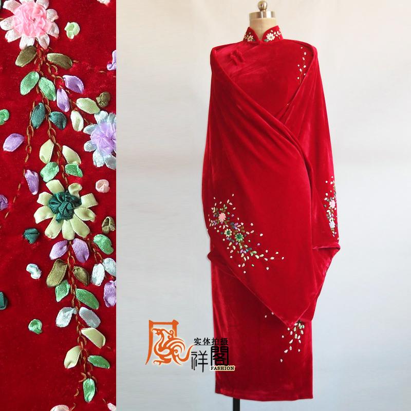 Aliexpress  Buy Red Bride Cheongsam Cape Set Ribbon