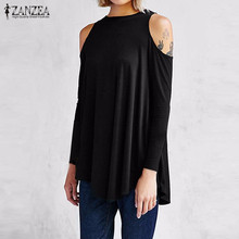 Buy ZANZEA Women 2017 Autumn Elegant Blouses Tops Sexy Ladies Shoulder Long Sleeve Pullovers Casual Loose Blusas Shirts Oversize for $7.01 in AliExpress store