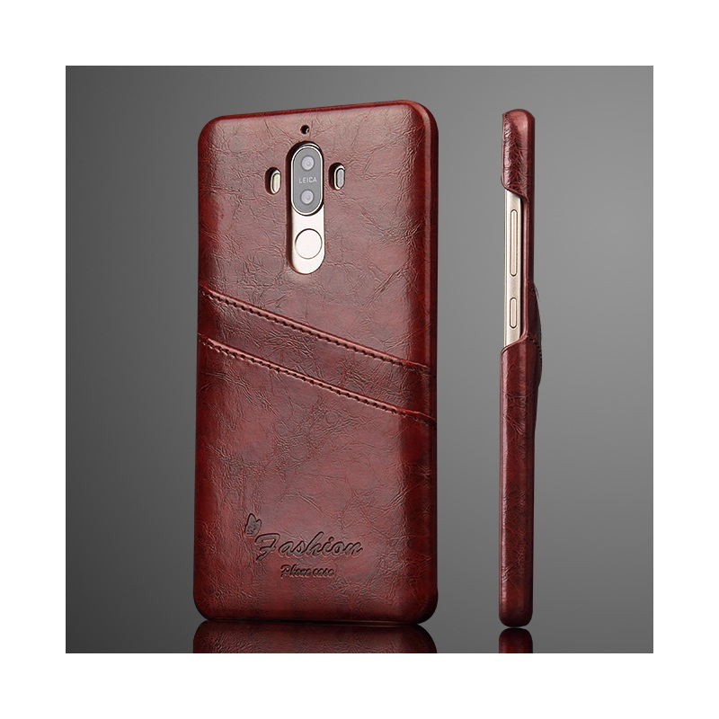 Fundas Coque for Huawei Mate 9 Card Holders Oil Wax Leather Skin PC Casing Capa for Huawei Mate 9 5.9 inch Hard Phone Cases(China (Mainland))