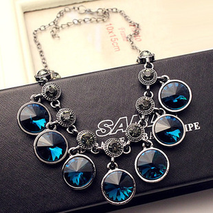 Fashion new 2015 jewelry ethnic pearl necklace ribbon tassell turquoise choker women chain statement pendent adjustable set(China (Mainland))
