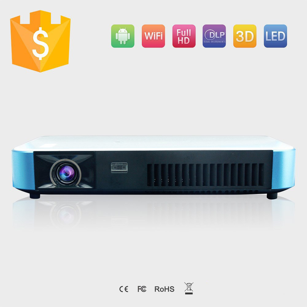 Android 4.4 HD Multimedia Projector ,Portable DLP 3D 1080P led mini pocket home cinema projector Factory Wholesale(China (Mainland))