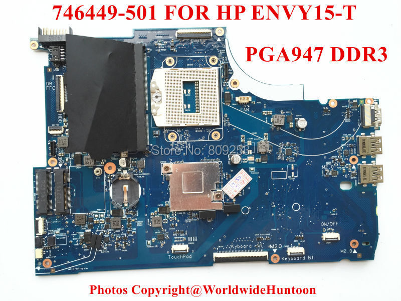 Original laptop motherboard for HP ENVY15-T 746449-501 6050A2547701-MB-A02 HM87 PGA947 DDR3 GT740M/2GB Fully tested(China (Mainland))