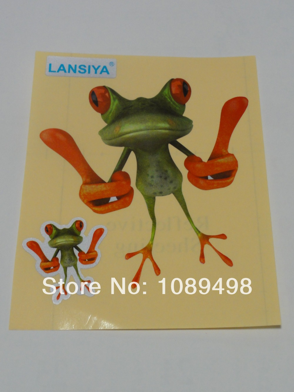 Free Shipping car 3D sticker funny frog style reflective sheeting(China (Mainland))