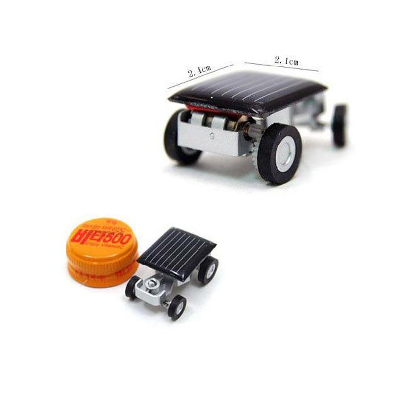 Smallest Mini Car Solar Powered Toy Car New Mini Children Solar Toy Gift Freeshipping  FCI#(China (Mainland))