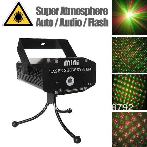 Christmas Home Laser Light Show 4 in1 Disco R&G Outdoor Party Lighting O100 Black - Crazy Cube store