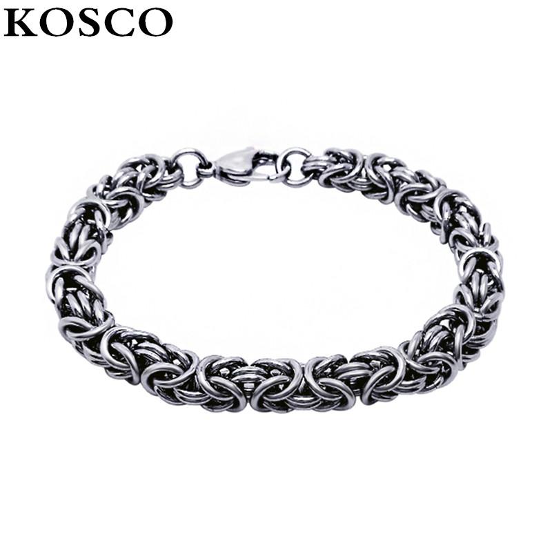 Titanium Steel Punk Sport Style Silver Snake Charm Knit Bracelet China Smart Men Jewelry KSC367(China (Mainland))