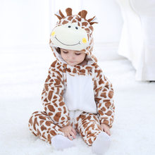 2018 Infant Romper Boy girls Clothes Cotton Cartoon Hooded Toddler Baby Clothes Cute Warm Winter Romper Baby Costumes CY012(China)