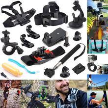 Gopro Accessories Kit Wrist Chest Head Strap Mount Floating Grip Clip Clamp Telescopic Monopod Stick for Gppro Hero 4 3 2 SJ4000