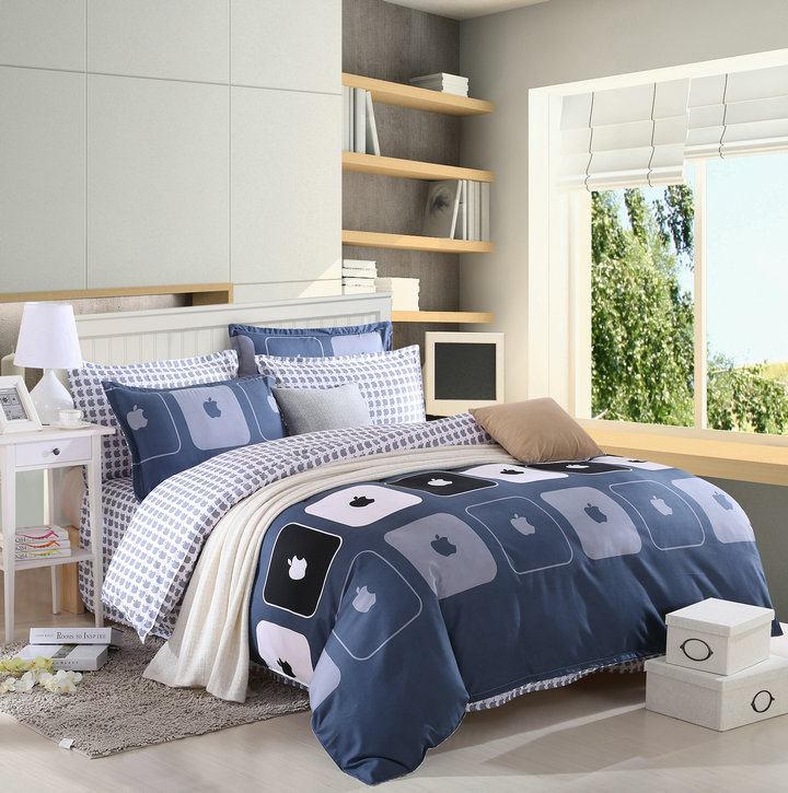 bedding sets Sanding plant double four pieces cotton wool cover/ bed sheet/ pillowcase - Wonston Store store