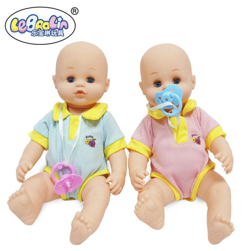 "Lifelike reborn baby interactive doll toy 15"" Bathing drink pee tears training simulation baby born bath toy(China (Mainland))"