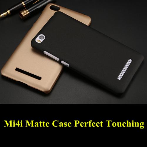 Free tempered glass Xiaomi mi4i case matte pc back cover case for xiaomi mi4i cases and