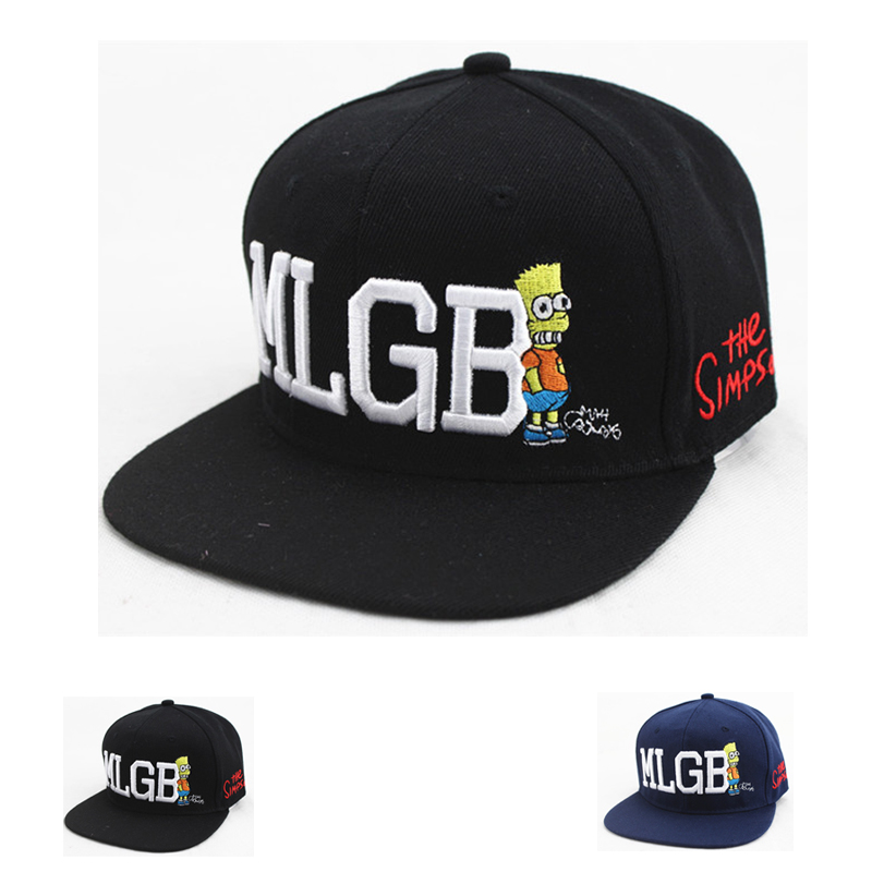 2016 New Baseball Cap Adult Letters Cartoon Simpson Snapback Caps Casquette Gorras Hombre Men's hat(China (Mainland))