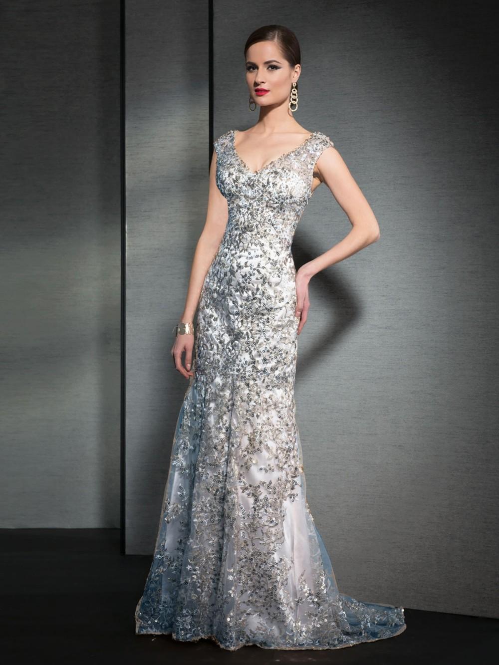 Мода роскошные серые длинные вечерние платья 2016 В шеи аппликации mermaid шнурка женщины театрализованное платье для формальных выпускного вечера партии платья