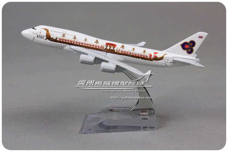 16cm Alloy Metal Air Thai Airlines Dragon Boat Boeing 747 B747 400 Airways Airplane Model Plane Model Diecast Free Shipping(China (Mainland))