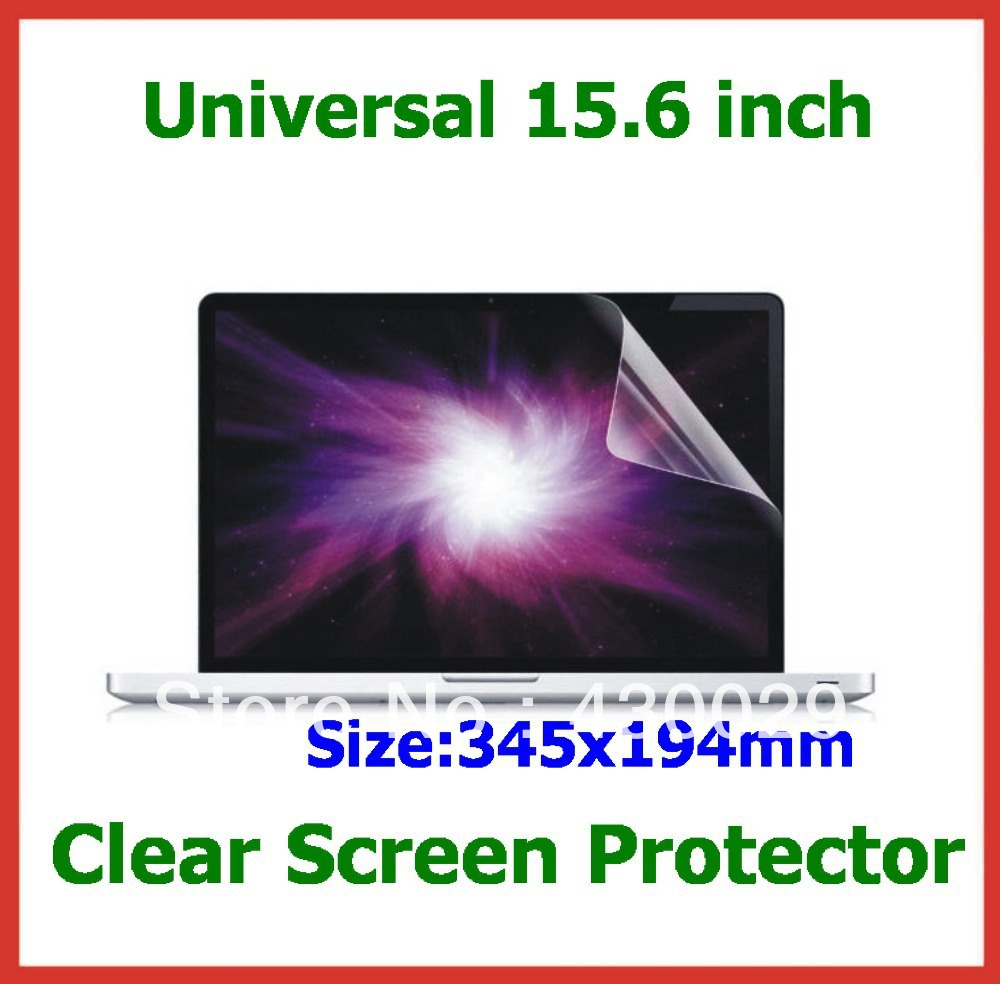 100pcs Universal Clear Screen Protector 15.6 inch Protective Film Size 345x194mm for Laptop Notebook PC Free Shipping(China (Mainland))