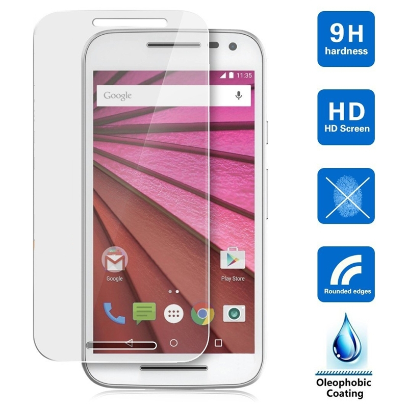 0.3mm Explosion-proof Front LCD Tempered Glass for Motorola Moto G3 G 3nd Gen XT1541 Screen Protector Protective Film Arc Edge(China (Mainland))