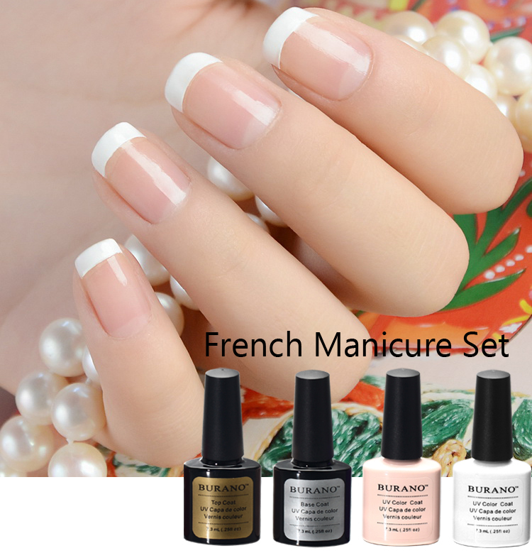 Online Buy Wholesale uv nail gel polish french manicure kit from ...