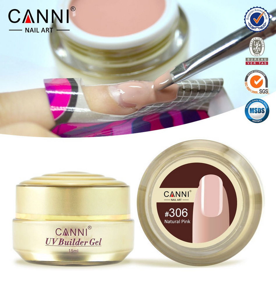 1PC 15ml CANNI Natural Nude Pastel Color UV Builder Gel Camouflage Acrylic Nail Art False Tips Extension 15 Colors - timtimng store