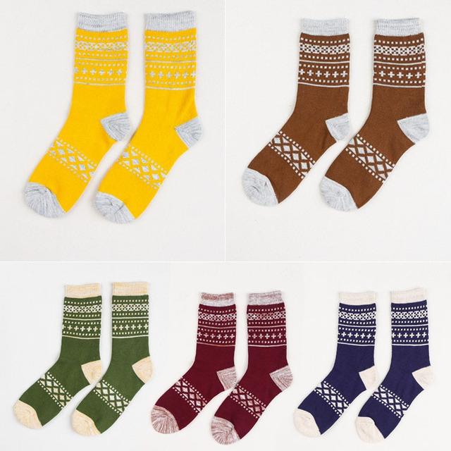 Skarpetki bawełniane wzór różne kolory