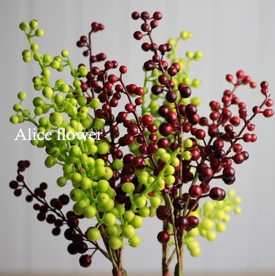 Wedding Decorative Fruit Berry Artificial Flower Silk Flowers Fruits Home Decoration Plants - Alice Florist store