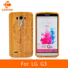 CORNMI For LG G3 Case Cover Skull Patern Wood Hard Bamboo Back Covers Cases For LG Optimus G 3 Cell Phone Bag Housing New ! ITH(China (Mainland))