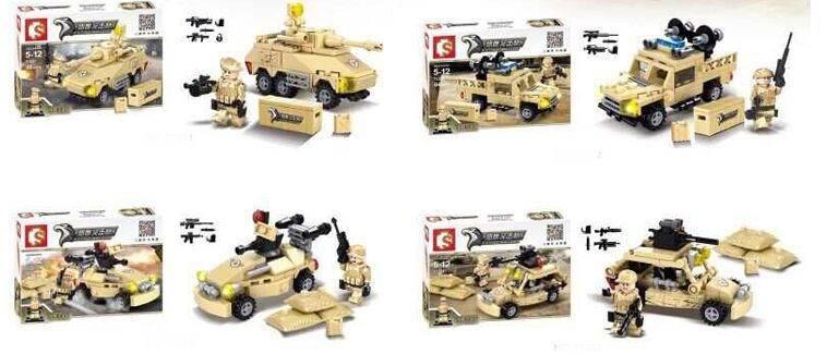 Falcon armored commando miniature plastic model kits Army Makava Tank Building Blocks Sets Educational Block toy for Children(China (Mainland))