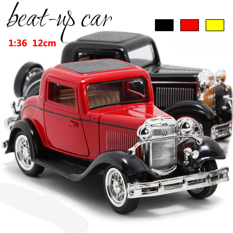 Deals Antique Classic Car 1:36 scale alloy pull back model car, Retro Diecast cars toy,Children's gift,free shipping(China (Mainland))