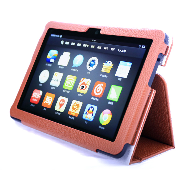 Retail Protective Shell PU Leather Folio Stand Holder Case Cover 2013 Amazon Kindle Fire HDX 7 inch 7.0 Tablet PC - LAPTOP SOLUTIONS CO LTD store