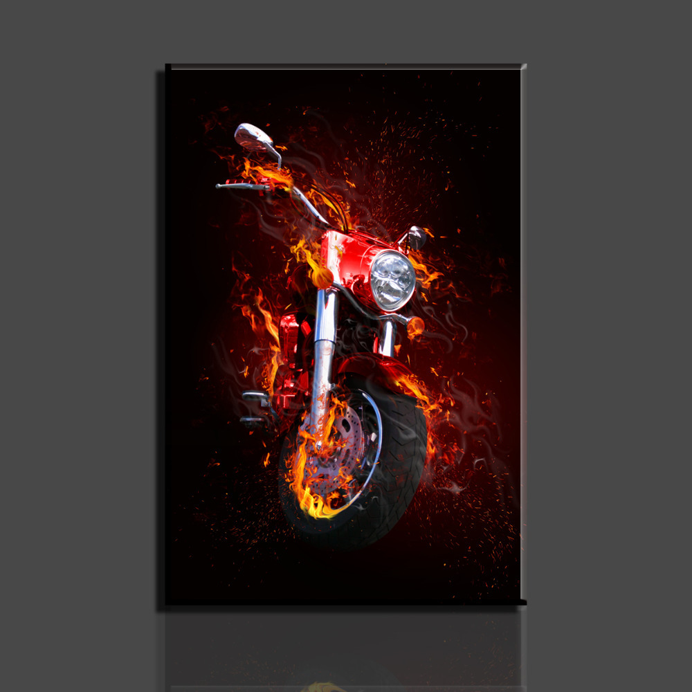 1 Piece picture Motorcycle Modern Home Wall Decor painting Canvas Art HD Print Painting living room - Whisper of store
