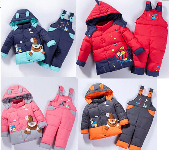baby Children boys girls winter warm jacket suit set thick coat+jumpsuit clothes kids animal Horse fish - Ibaymall pregnant clothing store