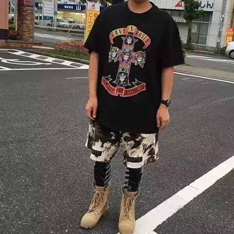 Summer Style 2016 Hard Rock Guns And Roses T-shirt Mens Hip Hop Justin Bieber fear of god Short Sleeve Cotton Tee(China (Mainland))