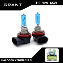 Buy GRANT 1Set 65W H9 Halogen Xenon Bulbs 5000K Pure White DC12V Headlamp Foglight Auto Repalcement Lamps headlight Free for $6.44 in AliExpress store