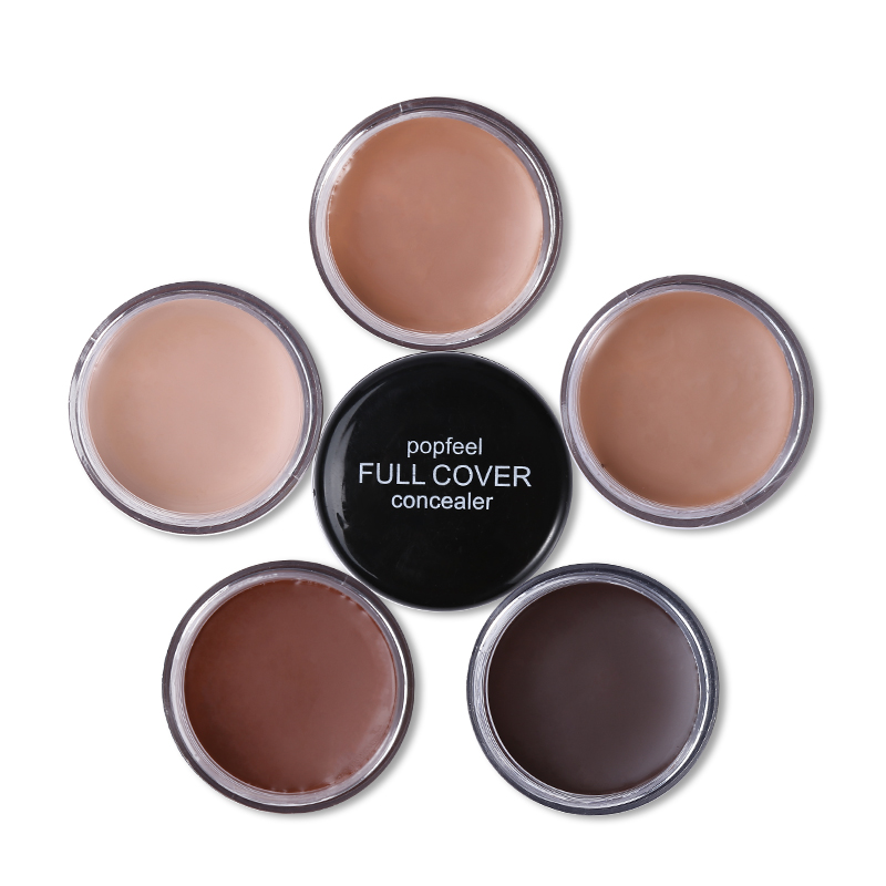 Popfeel Professional Brand 5 Color Pro Cream Concealer Contour Palette Naked Nude Skin Eye Face Primer Base Foundation Make Up(China (Mainland))