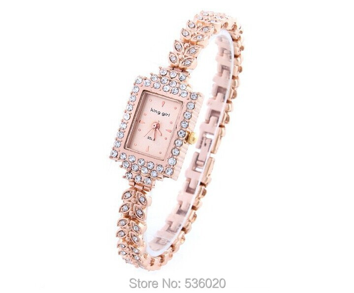 Hotest 2015 New Fahiosn Lady Rhinestone Watch Women Royal Diamond Quartz hours Girls Gifts Bracelet Wristwatch Drop ship - ShenZhen OKE Trade Co.,LTD store