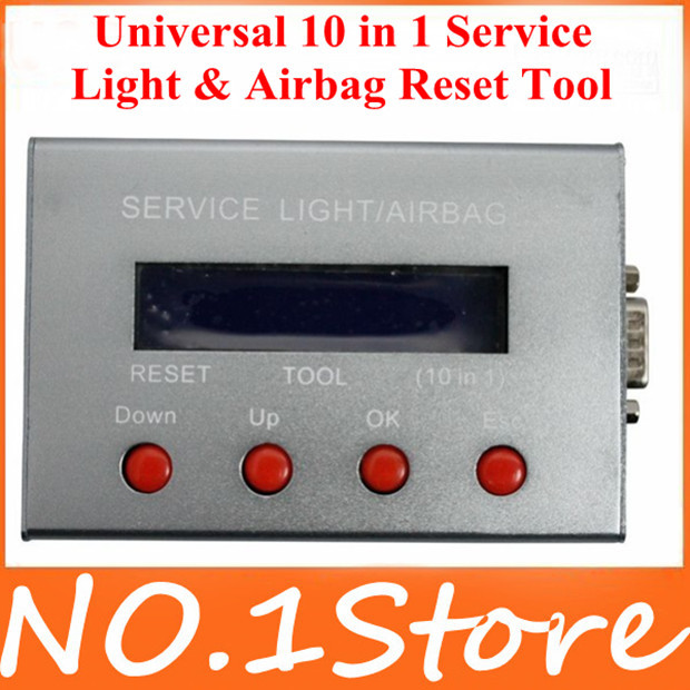2014 Highly Recommended Best quality Universal 10 in 1 Service Light & Airbag Reset with Tool wholesale price Big promotion(China (Mainland))