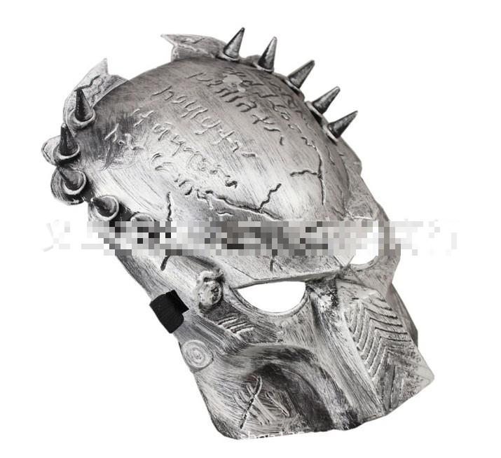 100x 2015 Beautiful Predator Mask Pvc Cosplay Halloween Mask---silver & Gold Color Available #mj023