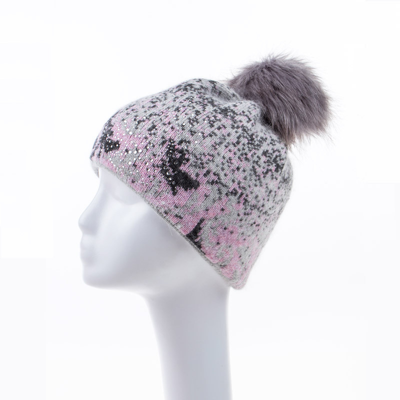 2016 IDUOLELELE New arrived fashion top quality casual hats caps for women Double warm beanies rabbit hair headdress chapeau(China (Mainland))