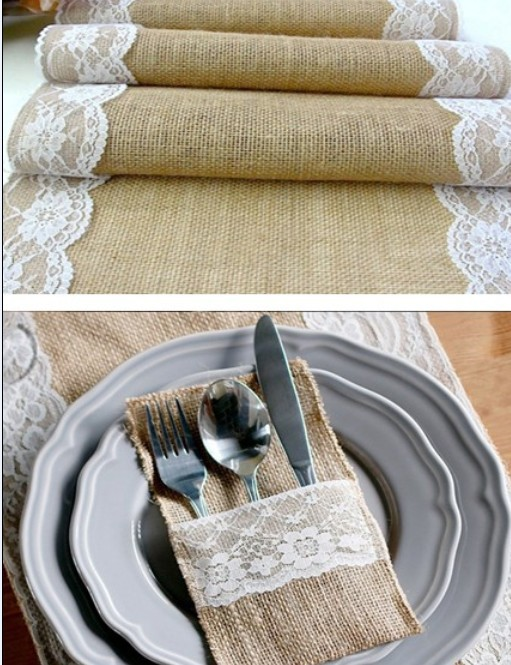 table wedding for Cutlery Pocket with wedding/  table  pockets table runners runner silverware for