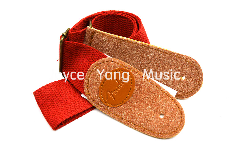 Acoustic Electric Guitar Strap Nylon Leather Ends ...