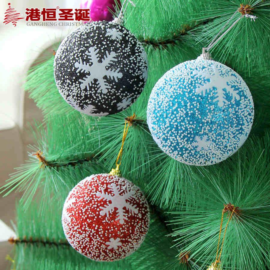 Christmas tree hanging snowflake print balls diameter