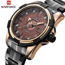 Buy Watches Men NAVIFORCE Brand Full Steel Army Military Watches Men's Quartz Hour Clock Watch Sports Wrist Watch relogio masculino for $17.99 in AliExpress store