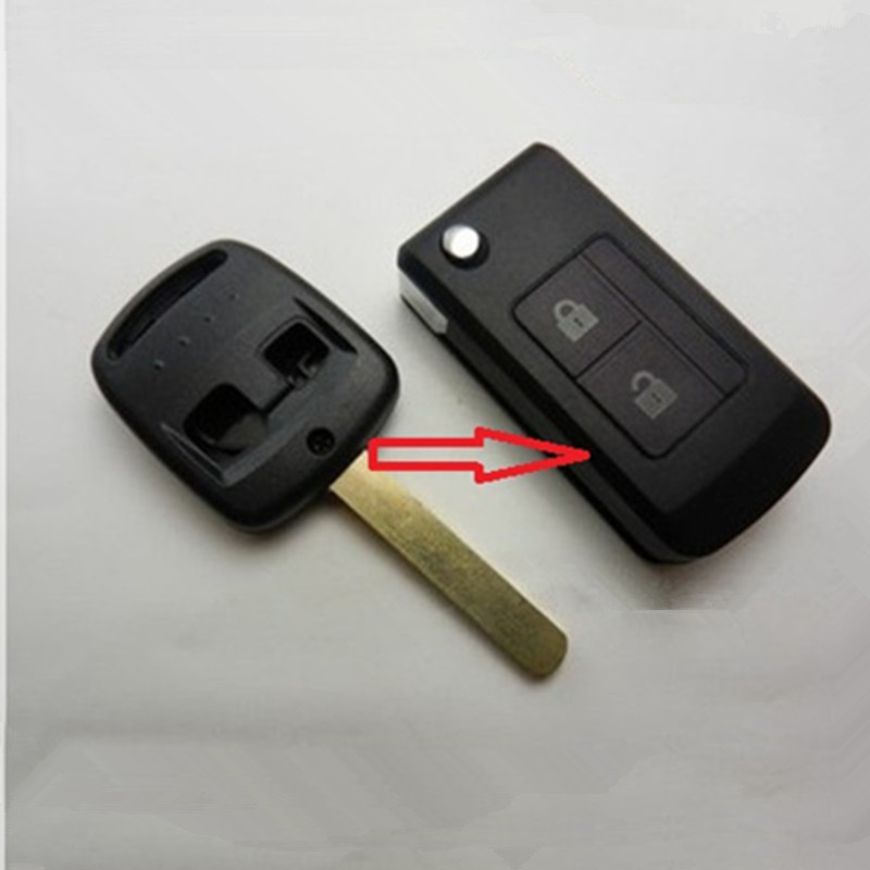 Free shipping for blank modified flip folding remote key case for Subaru Forester shell With Logo S038(China (Mainland))