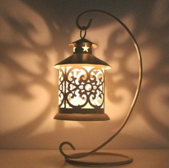 European rural accessories wrought hurricane iron lantern candle restoring ancient ways furnishing decoration birthday gift(China (Mainland))