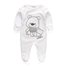 New 2016 cute baby rompers jumpsuit comfortable clothing for new born babies 0-9 m baby wear , newborn baby clothing(China (Mainland))