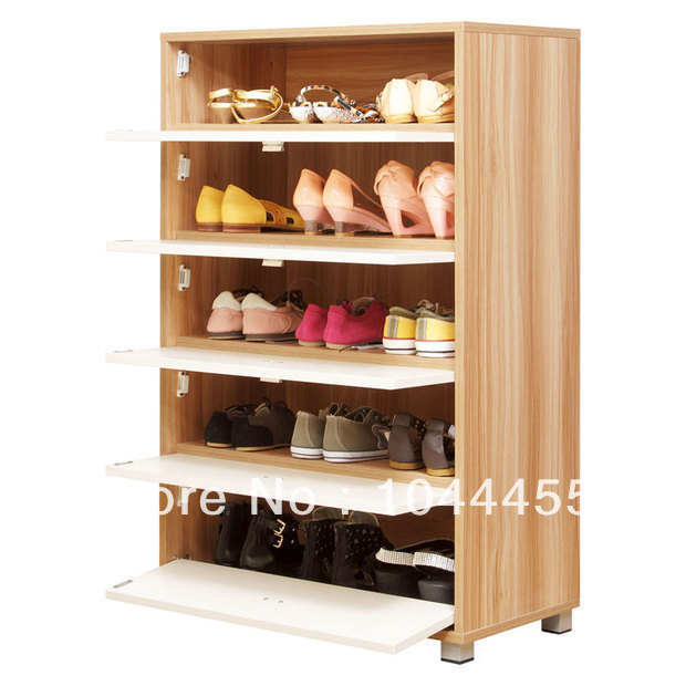 2014 Modern wooden shoe shelf racks storage cabinet with doors living room furniture for sale(China (Mainland))
