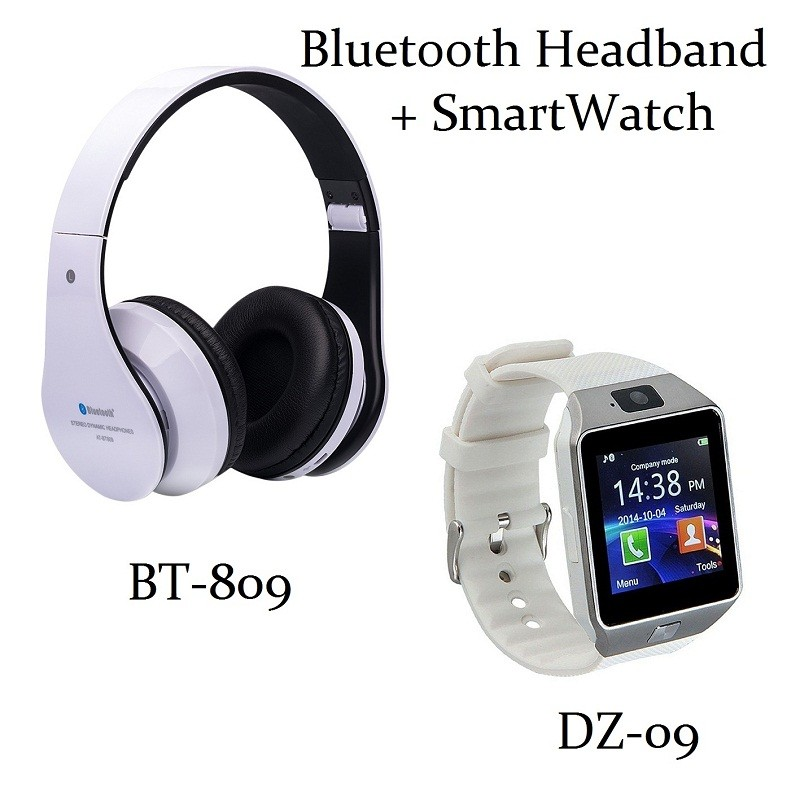 smart watch bluetooth headphones smartwatch headphone wireless phone watches dz09 headband bt. Black Bedroom Furniture Sets. Home Design Ideas