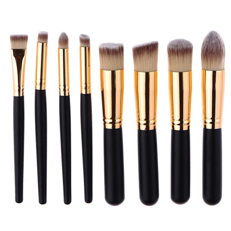Hot Sale 8pcs/set Beauty Makeup Brush Set Powder Foundation Eyeshadow Eyeliner Facial Cosmetic Pinceis de Maquiagem Brushes kits(China (Mainland))