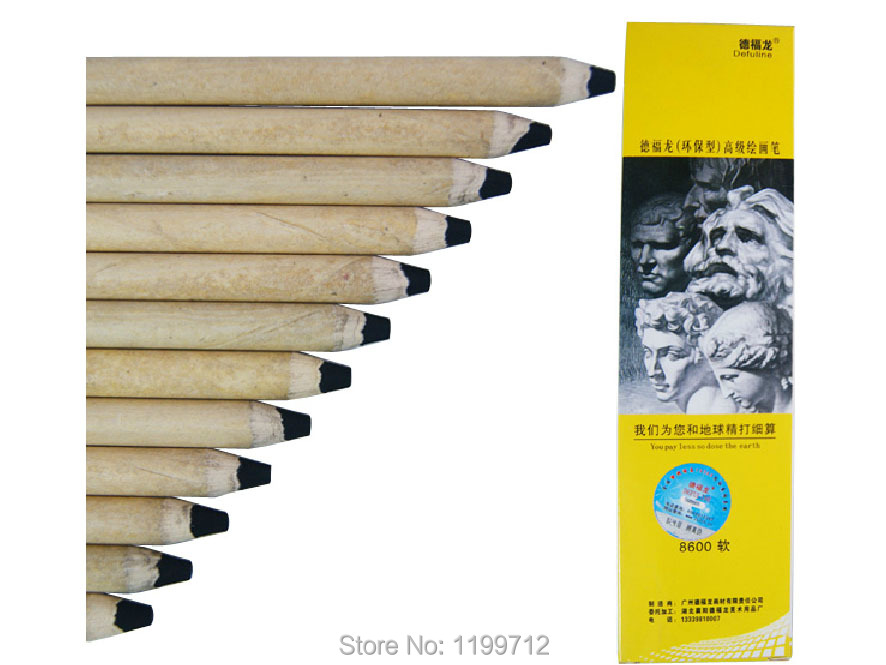 TB 12 Pc / Box Defuline Charcoal Pencils Soft Middle Hard Sketch Drawing hard(China (Mainland))