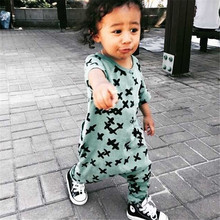 Baby Rompers Boys Girls Cross Kids Jumpsuit Long Sleeve Nununu Cross Print Long Sleeve Cotton Harem Children Clothing 2015